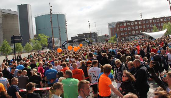 Aalborg halvmarathon startlinjen