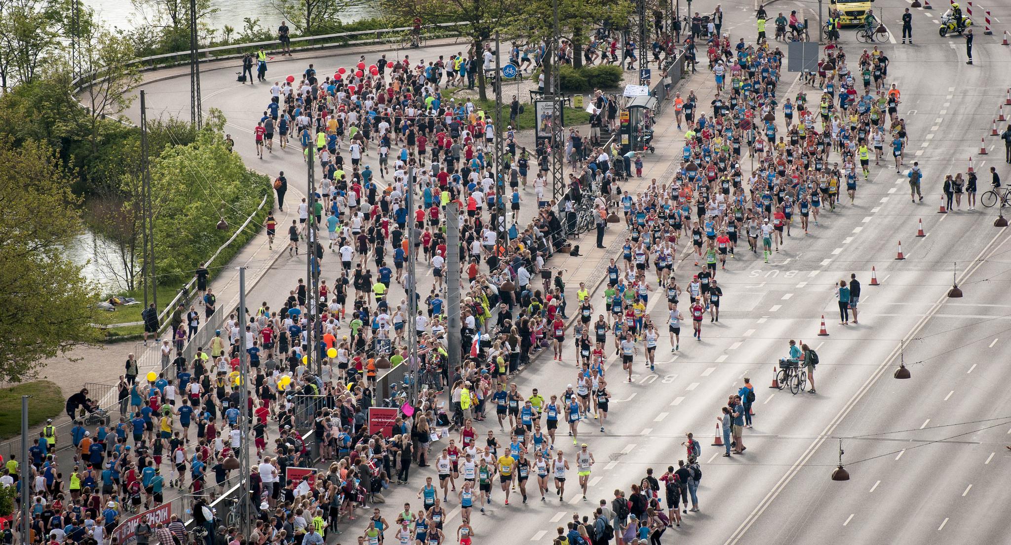 Et imponerende syn at se mange løbetosser samlet! Foto: Copenhagen Marathon/Sparta
