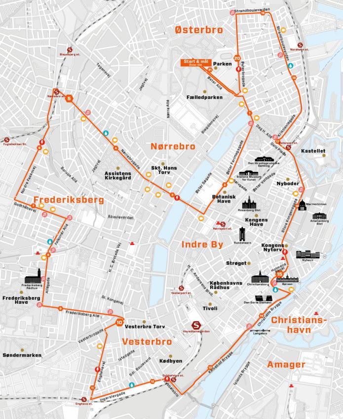 Ruten til CPH Half tog os rundt omkring flere kendte dele af København