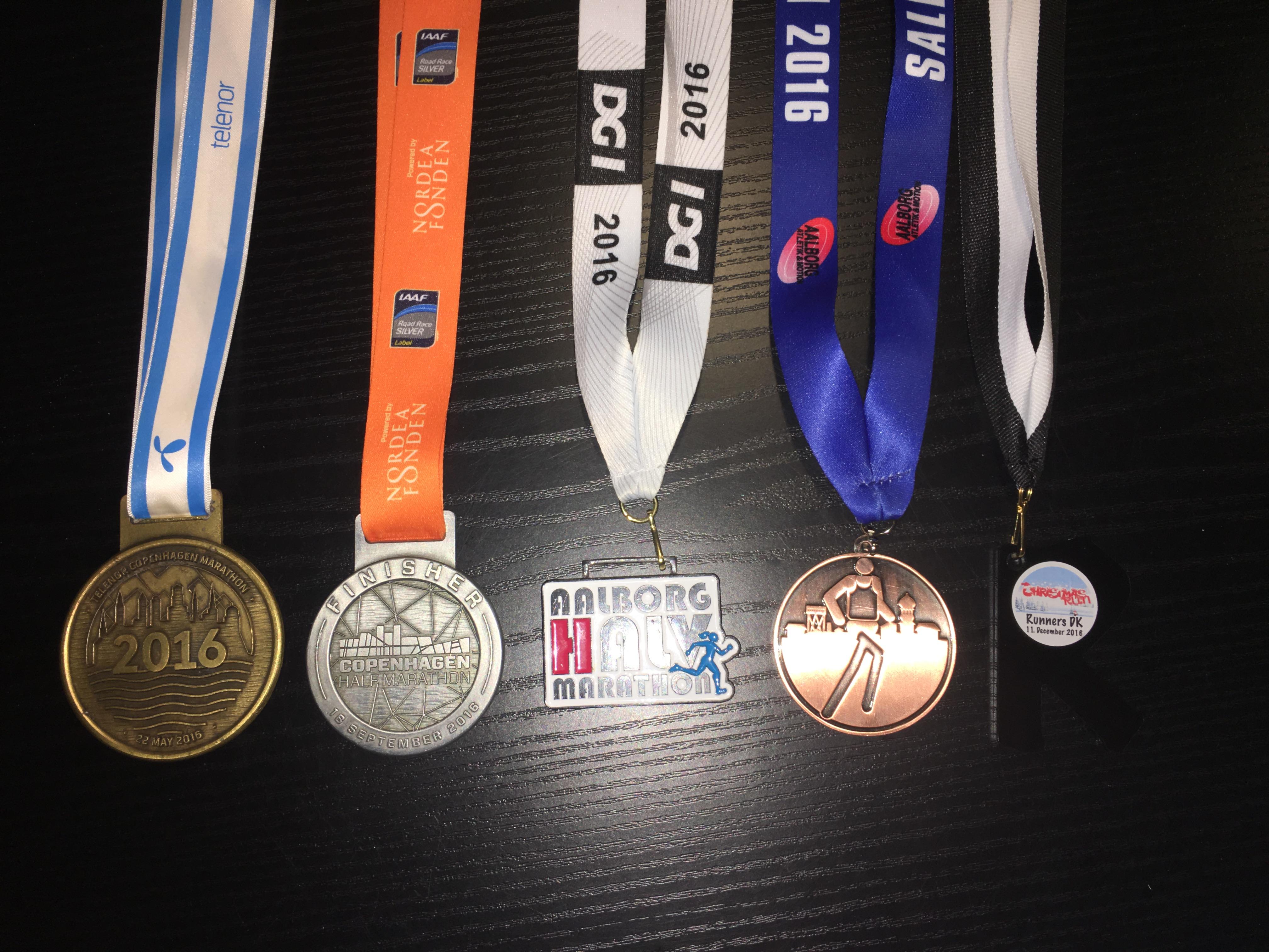 Alle fem løb medaljerne repræsenterer har budt på fantastiske oplevelser på hver sin måde!